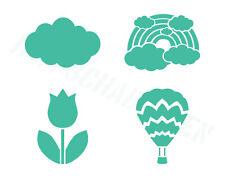 Wand/Mal/Textil/ Schablonen ● verschiedende Motive Tulpe Wolke Regenbogen Ballon