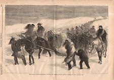 1868 Harpers Weekly Print Native American - Indian Prisoners taken by Gen Custer