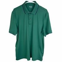 Untuckit Polo Shirt Men's XL Green Navy Blue 100% Pima Cotton Short Sleeve