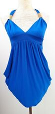 BNWT New Look Ladies Size 10 Blue Strappy Cami Tunic Top Summer Holiday Fashion