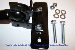 Edge Fahrrad Anhängerkupplung mit Anbauplatte - 130mm Lang + Gegenplatte