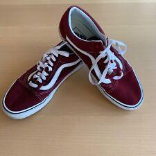 Vans borgoña Old Skool Zapatillas Size UK 9