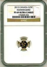 2013 G25c Canada Gold Hummingbird NGC PF69 Ultra Cameo