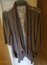 Green Wrap Shawl Jacket Large SEE ALL INFO NEW SAGE GREEN SILKY