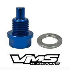 VMS RACING SUBARU MAGNETIC OIL PAN DRAIN PLUG BOLT KIT W/ CRUSH WASHER BLUE