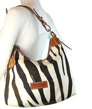 Dooney & Bourke Zebra Leather & Nylon Hobo Shoulder Bag