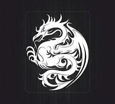 aufkleber sticker auto motorrad scooter chinesisch dragon tatowierung weiß