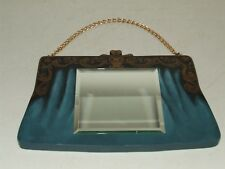 Vintage Art Deco Hand Painted Wooden Decorative Ladies Purse Handbag Wall Mirror