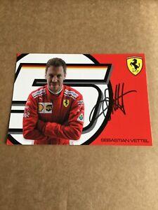 Sebastian Vettel, Formula One, Ferrari hand signed 4x6
