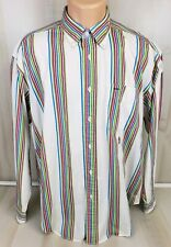 Tommy Hilfiger Mens Multicolor Striped Bright Long Sleeve Button Down Shirt L