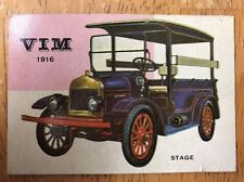 Vintage 1954 Topps World of Wheels 1916 VIM #57 Automobile Trading Card