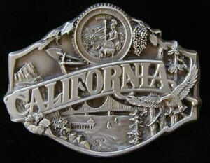 CALIFORNIA STATE BELT BUCKLE DETAILED BUCKLES NEW!
