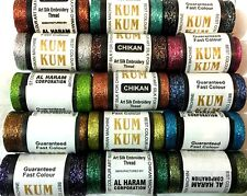 15 METALLIC MULTI EMBROIDERY SPOOLS 15 ASSORTED COLOURS 400 YARDS NEW COLLECTION