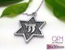 2pcs Magen David - Star of David - Jewish Star - Pendant 26x20mm Sterling Silver