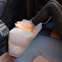 Inflatable Footrest Leg Rest Pillow Sleeping Bed For Travel Flight Car Home Soft