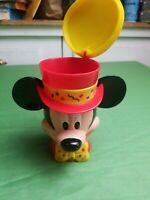 Disney On Ice Mickey Mouse Ringmaster Top Hat Mug With Plastic Flip Top Lid