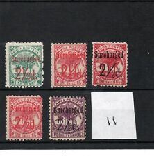 Western Samoa - Victoria  1898 (11) - selection overprints - mint SG Cat £40