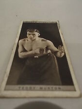 Teddy Murton 1928 Ogdens Boxing Cigarette card Boxer Pugilists in action No 31