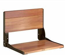 Moen DN7110 Home Care Wall Mounted Teak Wood Aluminum Folding Shower Seat Bronze