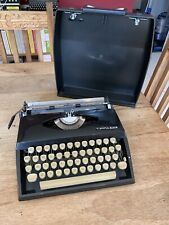 Antique Vintage 1970s Black ADLER TIPPA S Typewriter & BLACK Hard Case GWO