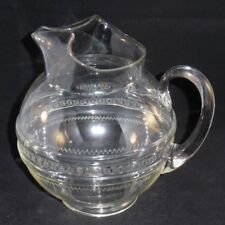 Vintage Clear Depression Glass Ball Water Pitcher