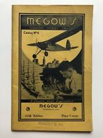 1938 Megow's Hobby Craft Model Airplane Catalog