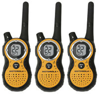 Lot of 3 Motorola T8500 FRS GMRS 2-WAY Radios Walkie Talkie Rechargeable Weather