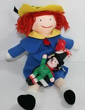 "1990 Dressable Madeline Doll 15"" Eden Plush Toy 2 smaller Dolls"