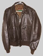 Vtg Bomber Jacket Military Flight Style Oakton Quilted Liner Large