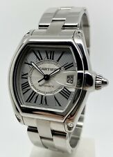 Authentic Cartier Roadster 2510 37mm Men's Automatic SS Watch W62025V3 B&P 2010
