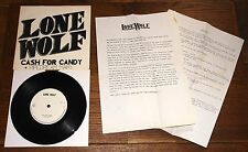 "LONE WOLF ~ CASH FOR CANDY b/w PIPEDREAM MARY ~ UK NWOBHM 7"" WITH PRESS RELEASE"