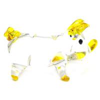 Pig #5 hand blown clear glass art miniature figurine crystal dollhouse animal