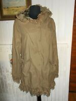 Manteau leger dentelle polyester beige capuche  MOLLY BRACKEN T.3 40/42