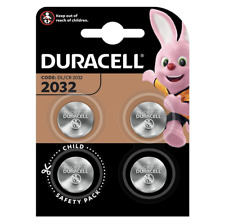 DURACELL CR2032 Lithium Battery 3V 4 Pieces - NEW