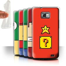 STUFF4 Gel/TPU Case/Cover for Samsung Galaxy S2/SII/Retro Gaming Characters