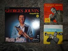 Lot de 5 vinyles 1 coffret 3 LP 33 tours et 2 super 45 tours de GEORGES JOUVIN