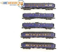 """E330 Minitrix N aus 11406 5x Personenwagen """"Orient Express"""" CIWL / Licht"""