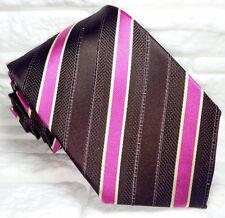Cravatta uomo regimental 100% seta Nuova Made in Italy handmade Morgana marca