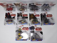 2017 Disney Star Wars Mattel Hot Wheels Character Cars - New
