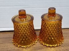 Home Interior Homco Votive Candle Holders Sconce Cup Glass Pair - Orange