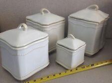 Pavillion Princess House Exclusive Set 4 Pieces Fine China Canisters Sugar Flour
