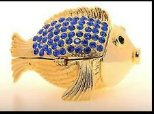 Fish Trinket box by Keren Kopal Austrian Crystal Jewelry box Faberge
