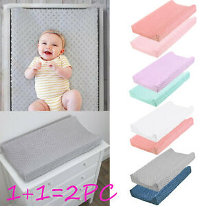 2PC Baby Nursery Diaper Changing Pad Changing Mat Cover Changing Table Cover