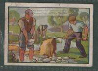 Linen Making By 'Retting' Flax in Ulster Ireland  Vintage Ad Trade Card