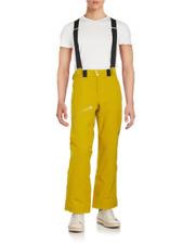 Spyder Mens Propulsion Brazen Yellow Zipped Insulated Snow Ski Pants NWT XL $275