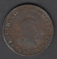 ESPAGNE DEVISE FERNANDO VII - 8 MARAVEDIS 1820 JUBIA