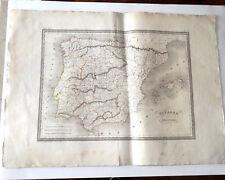 CARTOLINA Malta-marrone Spagna e PORTOGALLO circa 1820 Grav Thierry