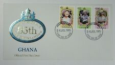 Lot21 Ghana 1985 Queen Mother 85th Birthday Stamps FDC 75p Max Post