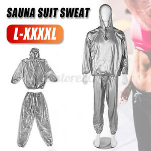 L-4XL Size Unisex Sweat Sauna Gym Suit Fitness Loss Weight Exercise Training