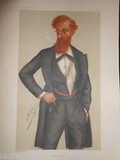 Original Victorian Vanity Fair Print; Lord Crawford, James Lindsay - May 11 1878